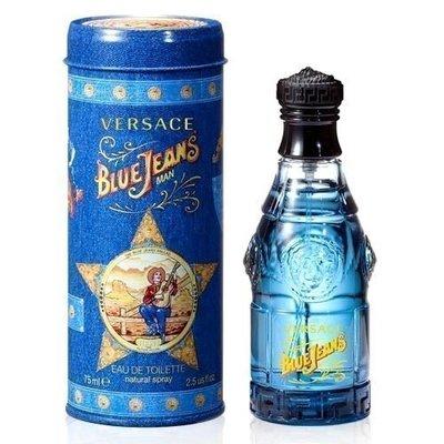 便宜生活館【香水】VERSACE 凡賽斯 Blue Jeans 藍可樂中性香水 75ml TESTER 全新商品