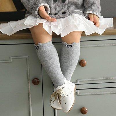 【愛寶貝嚴選好物】韓國 Mini Dressing 嬰幼兒/小童及膝襪/長襪_灰色小兔 (MDS001)