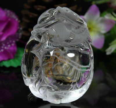 孟宸水晶 = A9086 (龍如意100%天然白水晶雕刻把玩件347克)