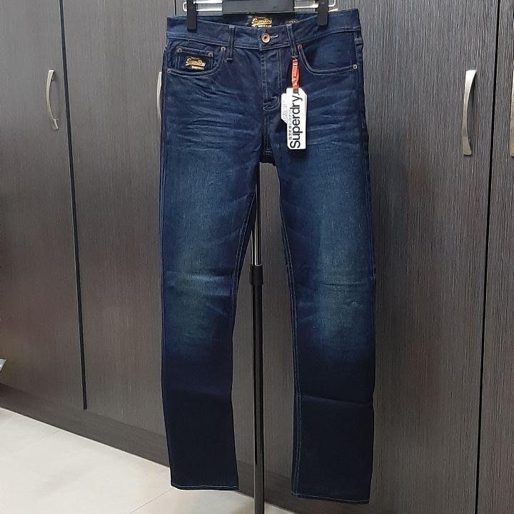 原價5180-全新專櫃正品Superdry 深藍牛仔褲(微彈)