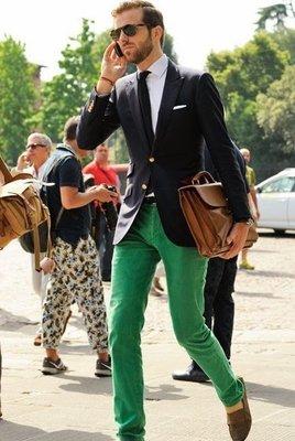 Celine 鮮綠直筒牛仔褲