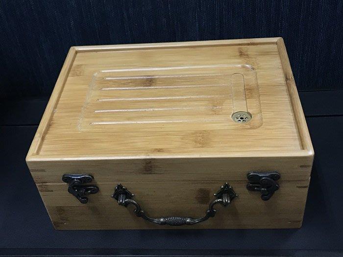 【自在坊】竹盒旅行茶具收納空盒 多用途竹盒茶盤