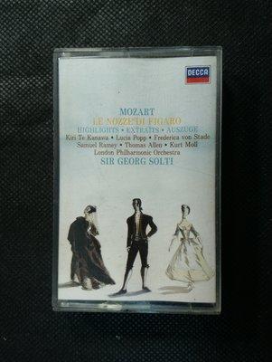 錄音帶 /卡帶/ BD158 /古典交響樂/莫札特/ 費加洛婚禮 /蕭提指揮 倫敦愛樂管弦樂團 /DECCA/非CD非黑膠