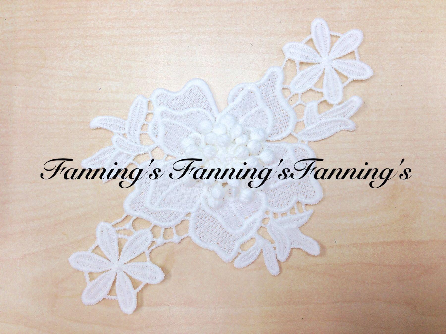 【芬妮卡Fanning服飾材料工坊】3D立體花蕊棉布花片 DIY手工材料 1片入 『現貨商品』