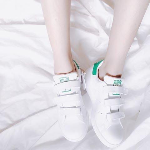 ☆AirRoom☆ Adidas originals STAN SMITH J 大童鞋 S82702 白綠 魔鬼氈 特價