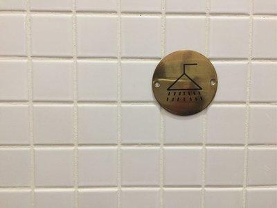 黃銅淋浴室門牌