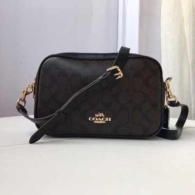 【Woodbury Outlet Coach 旗艦館】COACH 68168 女士雙拉鏈相機包斜跨包美國代購100%正品