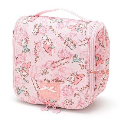 《東京家族》日本三麗鷗 Melody 美樂蒂 掛勾收納包 旅行包 萬用包 化妝包 浴室置物