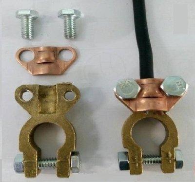 汽車專用電池夾頭 (夾式電池頭) (電瓶頭)(銅頭 鉛頭) 55B24LS 55D23L 75D23L 80D26L 台中市