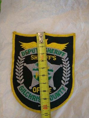 Sheriffs office/Deputy Sheriff Gilchrist County 熱貼布標