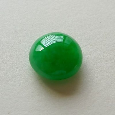 ☯玉玲瓏☯緬甸天然翡翠冰種陽綠滿綠蛋面戒面鑲嵌男女款戒指面