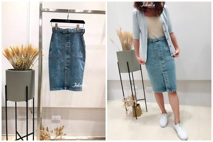 ✽JoBella 韓國空運 韓國代購 韓貨✽ 復古及膝牛仔裙 現貨+預購