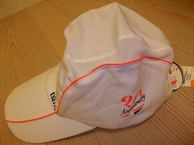 【全新商品】tsmc 30週年 紀念版 3M材質 白橘夾條搭配色 輕量型 運動休閒帽 ~$450元就賣~