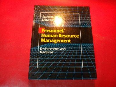 【愛悅二手書坊 22-13】Personnel/Human Resource Management