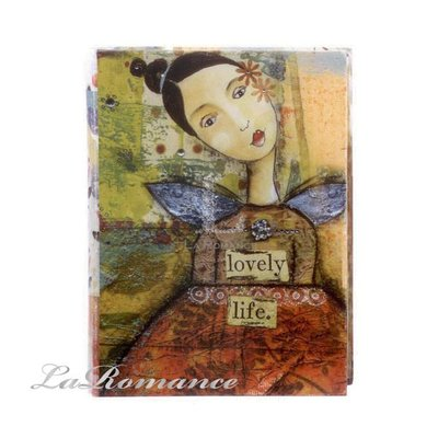 【Creative Home】Heart & Home 心戀家居系列紙製書本造型收納盒 - 大 ( lovely life ) / 書盒