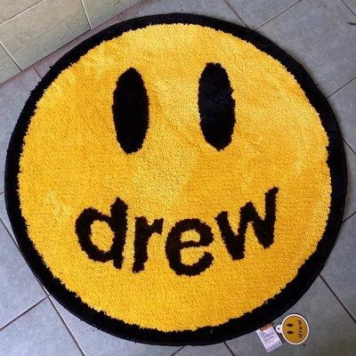 創意居家~潮物Woo Drew House Smiley Rug DH 賈斯丁比伯 居家圓形笑臉地毯定制 清倉 代購 進口 廠家直銷