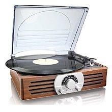 懷舊情懷~ 法國Thomson木質外殼黑膠碟機!! RCA輸出, 內置喇叭、speaker