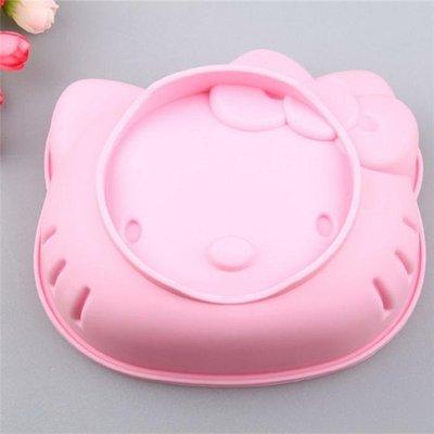 Hello kitty矽膠6吋模型(貓咪造型蛋糕模型.香皂模型.麵包烘焙材料器具.果凍膜具.吐司模具.迪士尼)新食倉庫