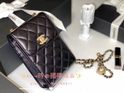 ☆ Annie 時尚國際精品 ☆ CHANEL AP1448球手機包  黑色