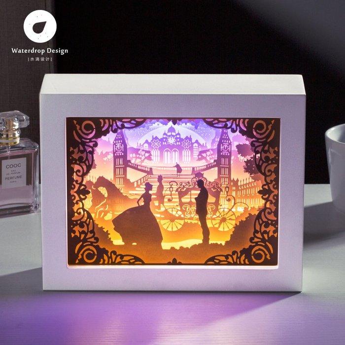 解憂zakka~ 光影紙雕燈 古堡2.0 剪紙刻3diy手工材料包創意禮物抖音同款臺燈#禮物#紙雕燈