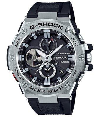 CASIO卡西歐G-SHOCK 強悍機能型多功能運動GST-B100-1A太陽能電力膠帶錶
