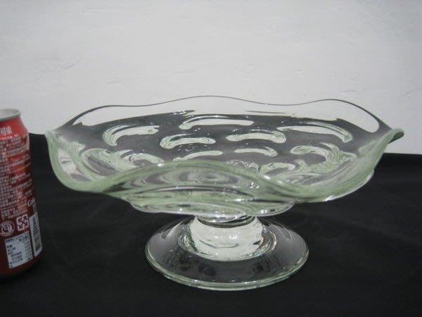 【讓藏】早期收藏手工老玻璃花瓶,貢盤,供盤,水果盤,最後9件,,1件650(大件,厚重)約26.8*11
