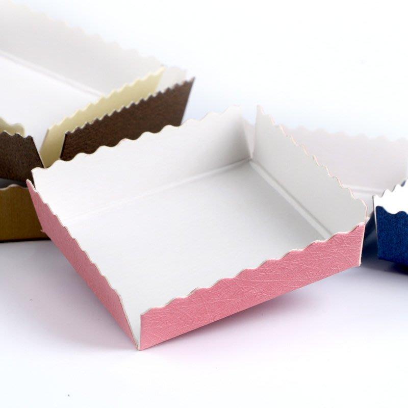 阿里家 億人熱銷多色紙托小清新底座烘培包裝白卡紙底托通用透明盒6x6cm/訂單滿200元出貨