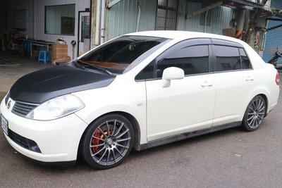 【Xiomara GT】煞車 卡鉗 活塞 日產 TIIDA 330 全打洞碟盤 GT版-大四卡鉗 陽極橘金