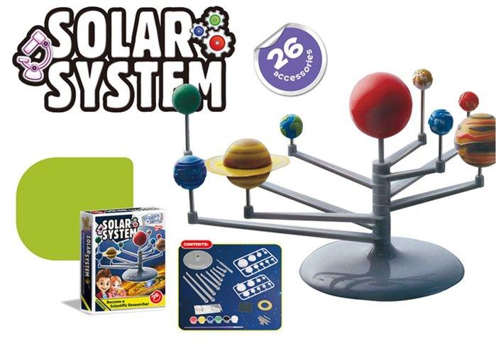 【好孩子福利社】科學系列組裝玩具 趣味繪畫圖色 太陽系行星儀模型 九大系行星