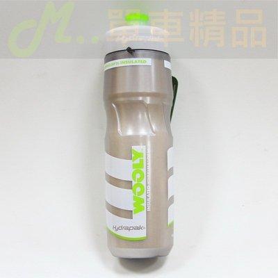 [M..精品]#綠銀色#Hydrapak Wooly Mammoth 710ml/25oz自行車保溫水壺!