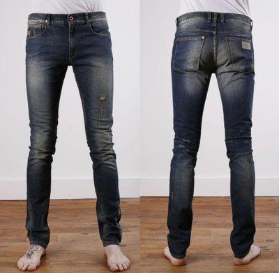 APRIL77 JOEY Indie Stomp 復古洗舊刷色破壞 牛仔褲 窄褲 法國搖滾 巴黎文青 全新正品現貨32