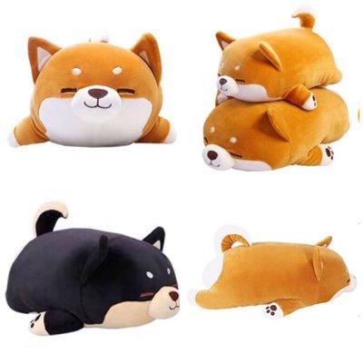 毛嚕嚕小舖-正品直播同款米糠抱枕柴犬娃娃-小號40公分(另有黑色和大號)