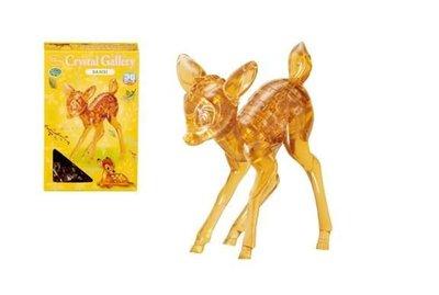 (藝)日本拼圖原裝進口拼圖 36片3D水晶立體公仔拼圖 迪士尼公仔 小鹿斑比 Hanayama 057103