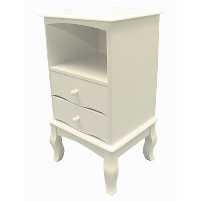【尚品傢俱】K-877-02 柏林 白色二抽櫃/雙屜櫃/收納櫥櫃/儲物櫃/Two Drawer Cabinet