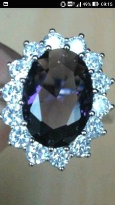 藍紫晶晶鑽戒指