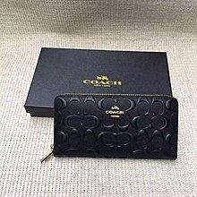 NaNa代購 COACH 53834 黑色/粉色 浮C設計 質感棒 時尚大方 附代購憑證