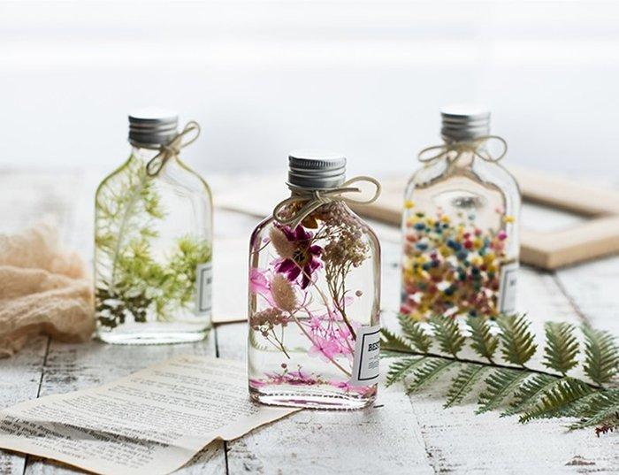 浮游花玻璃瓶☆ VITO zakka ☆浮游花 漂浮花 玻璃瓶 療癒系💕ins植物浮游永生花標本玻璃瓶
