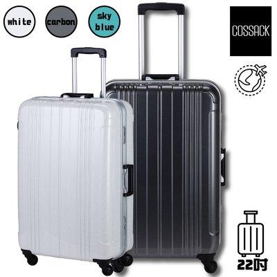 質感倍加👍 COSSACK 實質系列 22吋PC鋁框行李箱 (出國/拉桿箱/登機箱/行李箱) CS11-2016022
