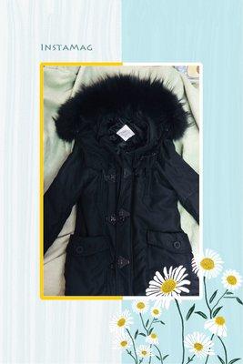 日本購入 sly n3b 保暖外套 兩件式 毛絨 鐵扣 可拆式 多層次 黑色 連帽外套 軍裝 長版