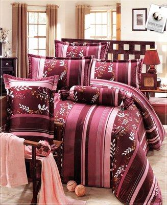 特大兩用被特大床包組四件式-流線風采-台灣製精梳棉 Homian 賀眠寢飾