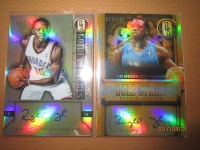 網拍讀賣~Reggie Jackson~活塞隊球星~金磚限量簽名卡/299~金磚簽名卡~直簽~普特卡~共2張~700元~
