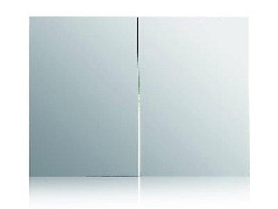 雙開門防水發泡板浴室鏡櫃 80*70cm