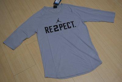 NIKE AIR JORDAN RE2PECT敬意RESPECT Jeter七分袖短T恤短袖針織衫 921528-012