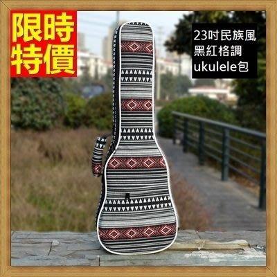 烏克麗麗包 ukulele 琴包配件-23吋黑紅復古民族風帆布手提背包保護袋琴袋琴套69y27[獨家進口][米蘭精品]