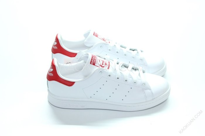 【高冠國際】ADIDAS ORIGINALS STAN SMITH 白 紅 皮革 女鞋 M20326