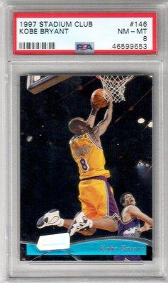 老大老卡 1997 Stadium Club Kobe Bryant #146 PSA8 鑑定卡