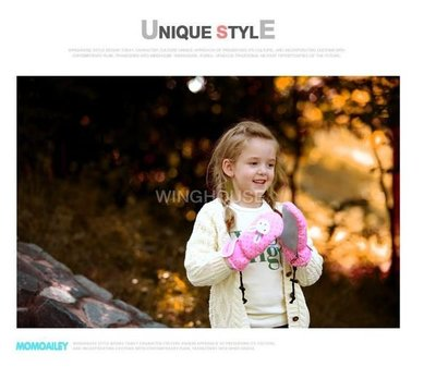 [泇錤小鋪]~韓國正品WING HOUSE 防風粉紅色 點點小兔刺繡甜美可愛手套 寒流必備 現貨