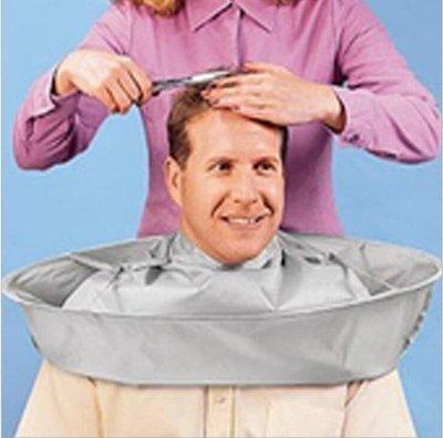 高檔成人中號理髮衣染髮衣 理髮斗篷 立體透氣理髮30cm*30cm