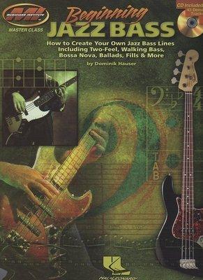[ 反拍樂器 ] MI系列進口書籍 Beginning Jazz Bass 貝士教材 附CD (免運費)