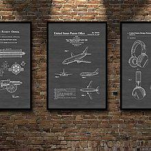 現代簡約裝飾畫黑灰色框畫設計平面圖工具圖LOFT工作室掛畫廠房(多款可選)
